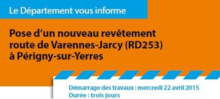 Attention travaux à Périgny !!!