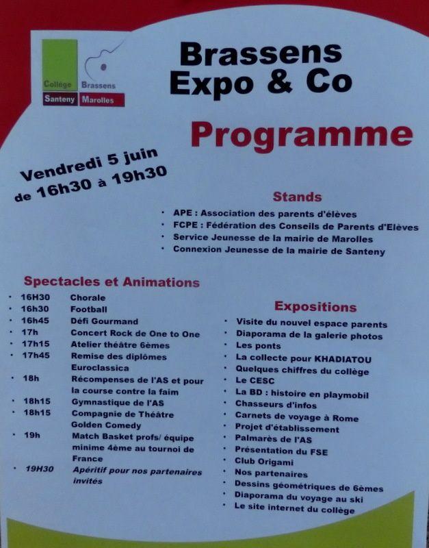 Collège Georges Brassens, demandez le programme !!
