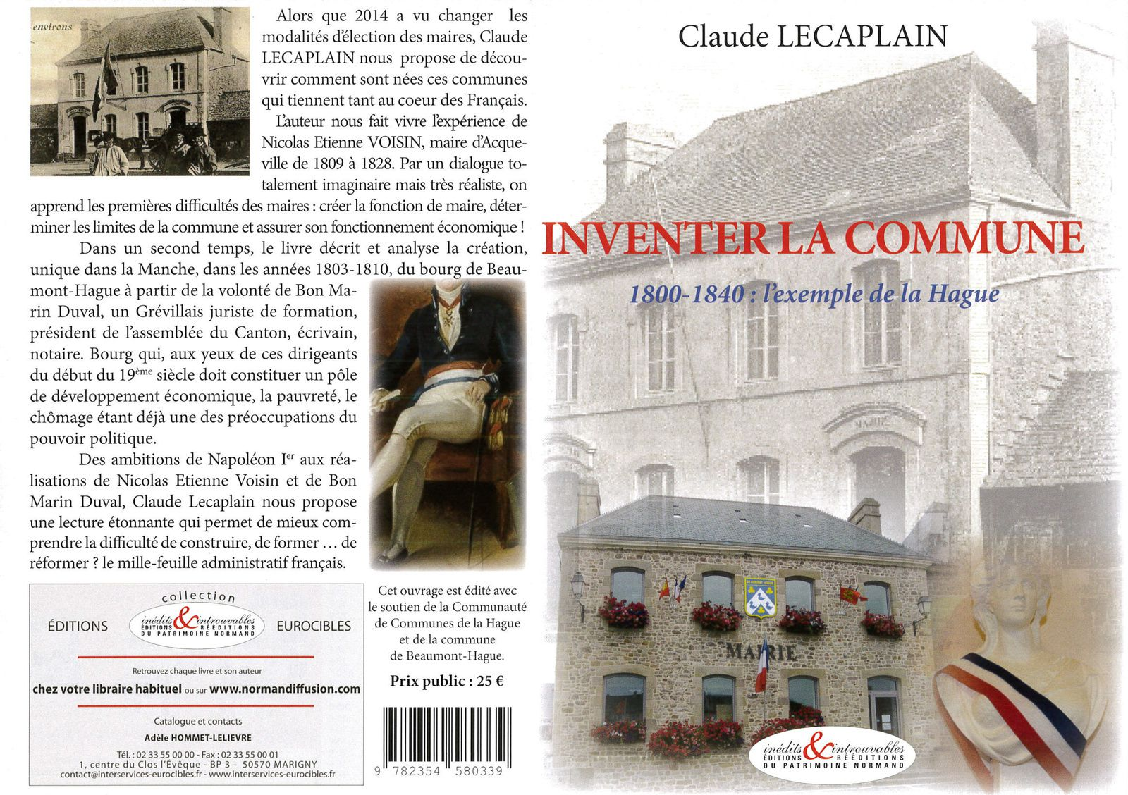 &quot&#x3B;Inventer la commune&quot&#x3B; par Claude Lecaplain