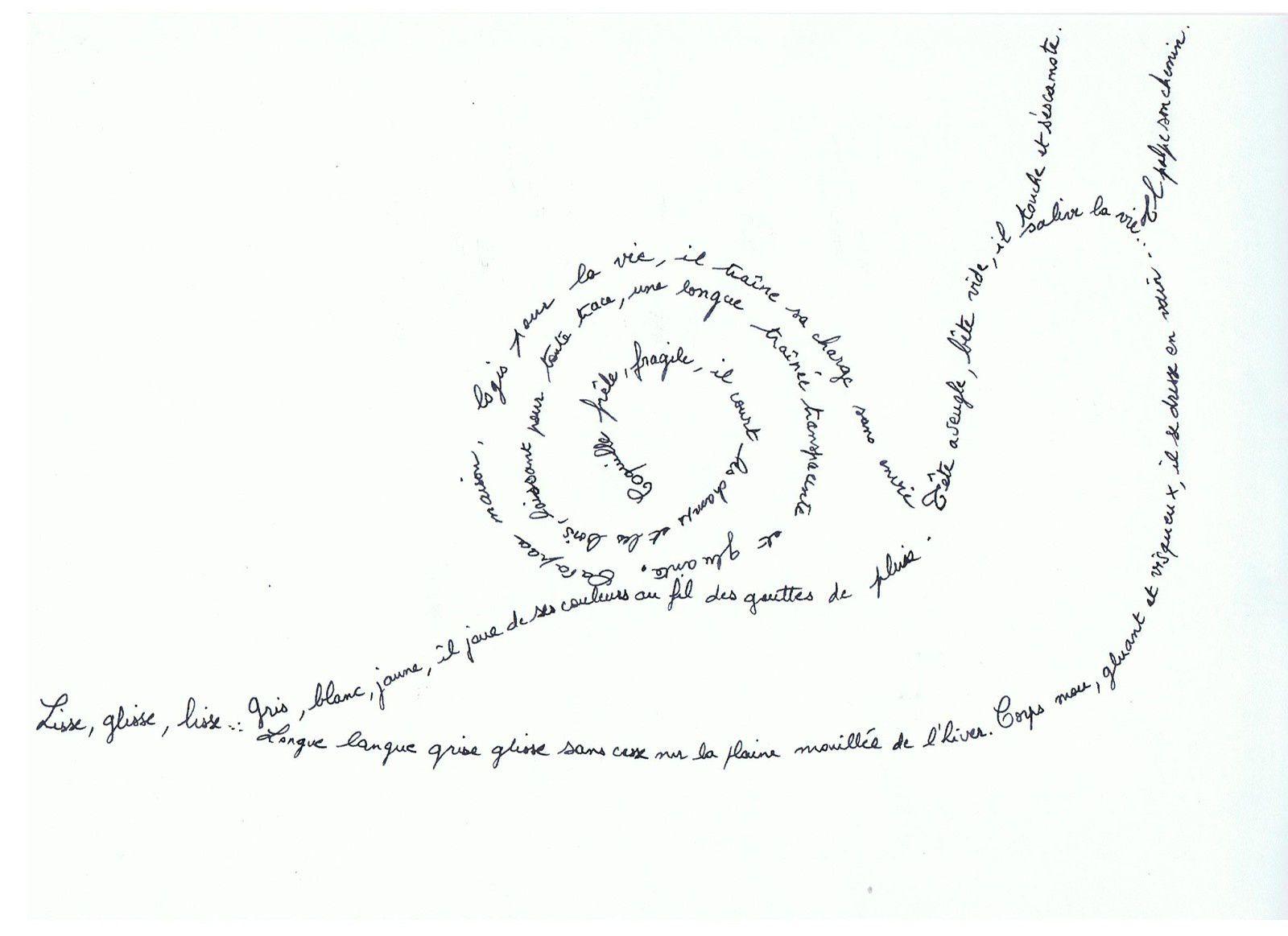 """Concours calligrammes pour la revue """"Les petits papiers de Chloé"""""""