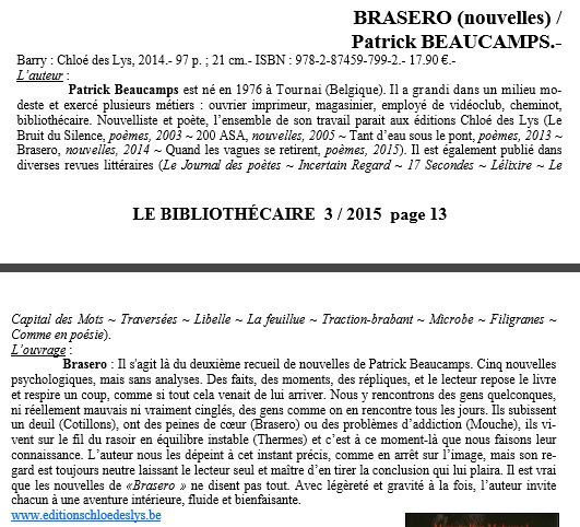 Brasero - Patrick Beaucamps