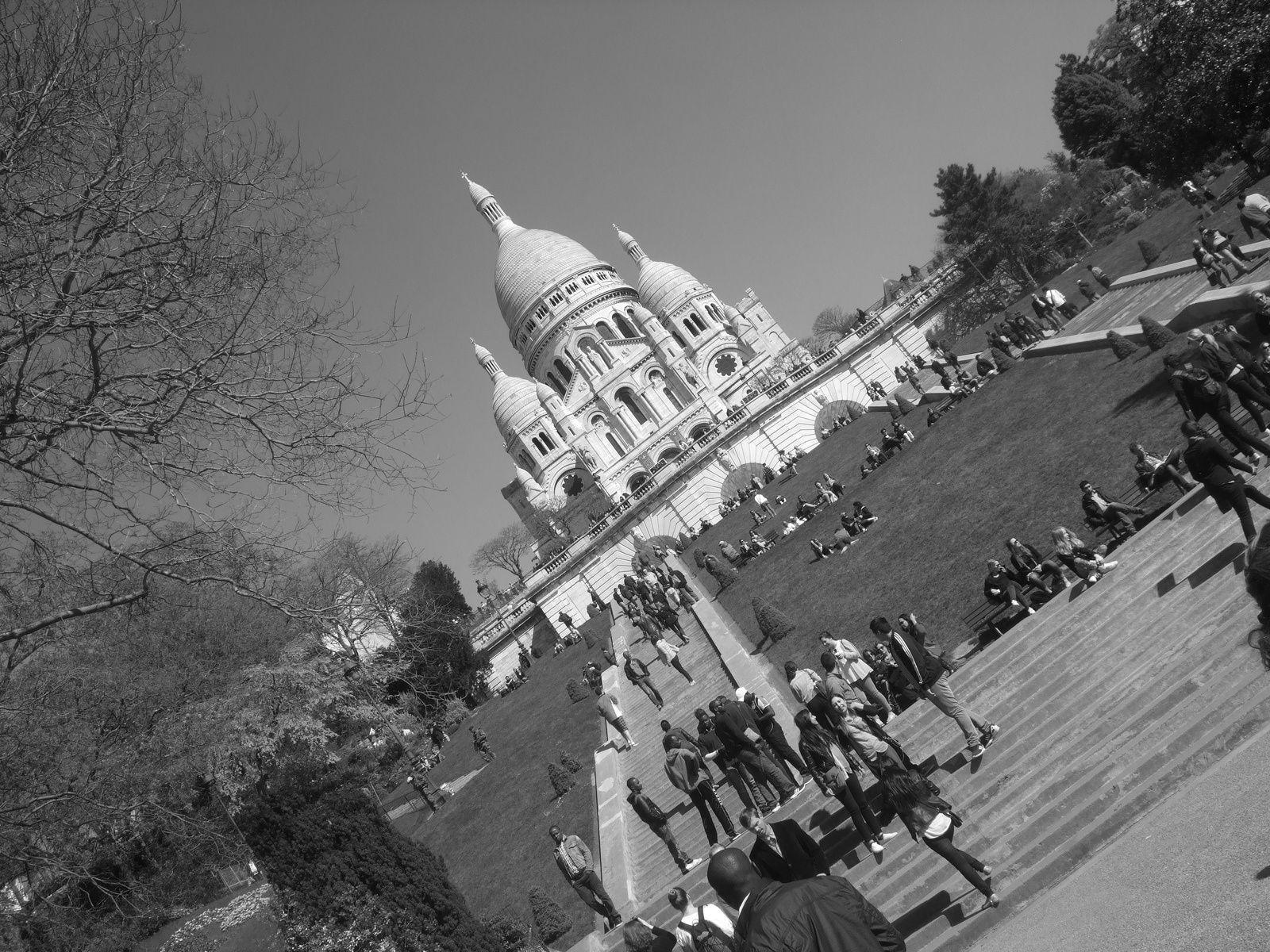 Montmartre et le Sacré Coeur - photos prises le 19 avril 2015