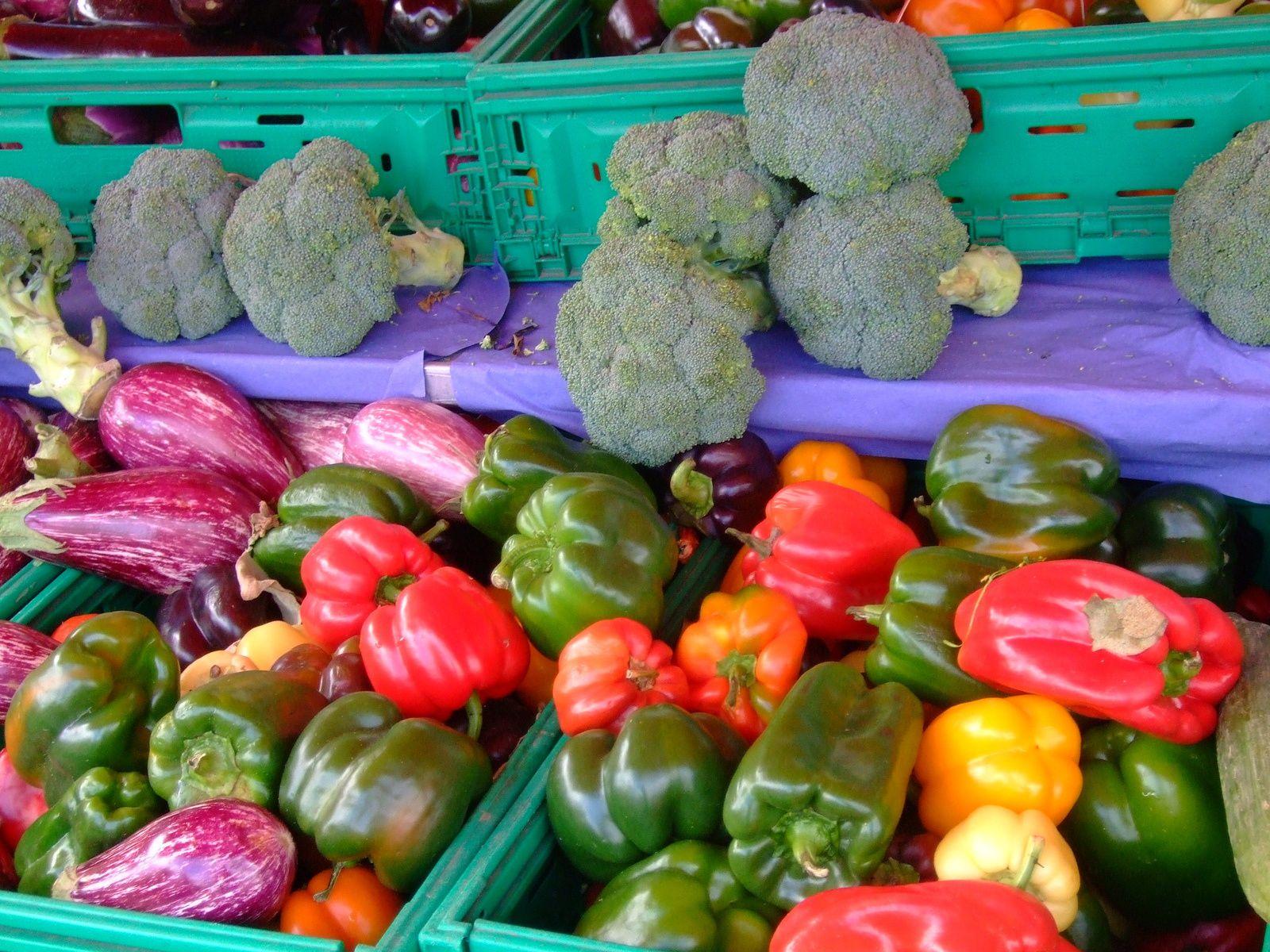 Au coeur du marché d'Auray - photos prises septembre 2013