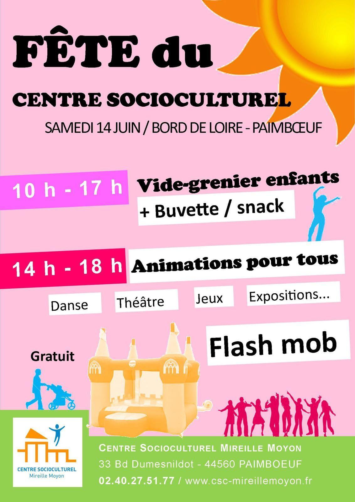 Le 14 Juin : Fête du CSC Mireille Moyon