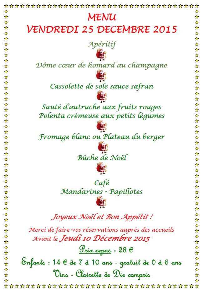 Menu Simple Repas De Noel.Menu De Noel Simple