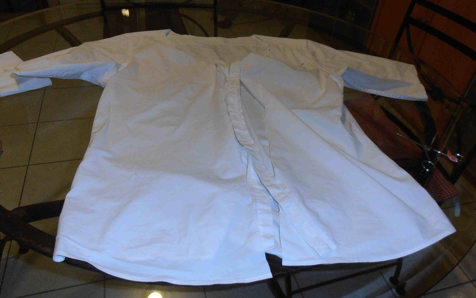 Recycler les vieilles chemises, une chemise veste : tuto numéro 1