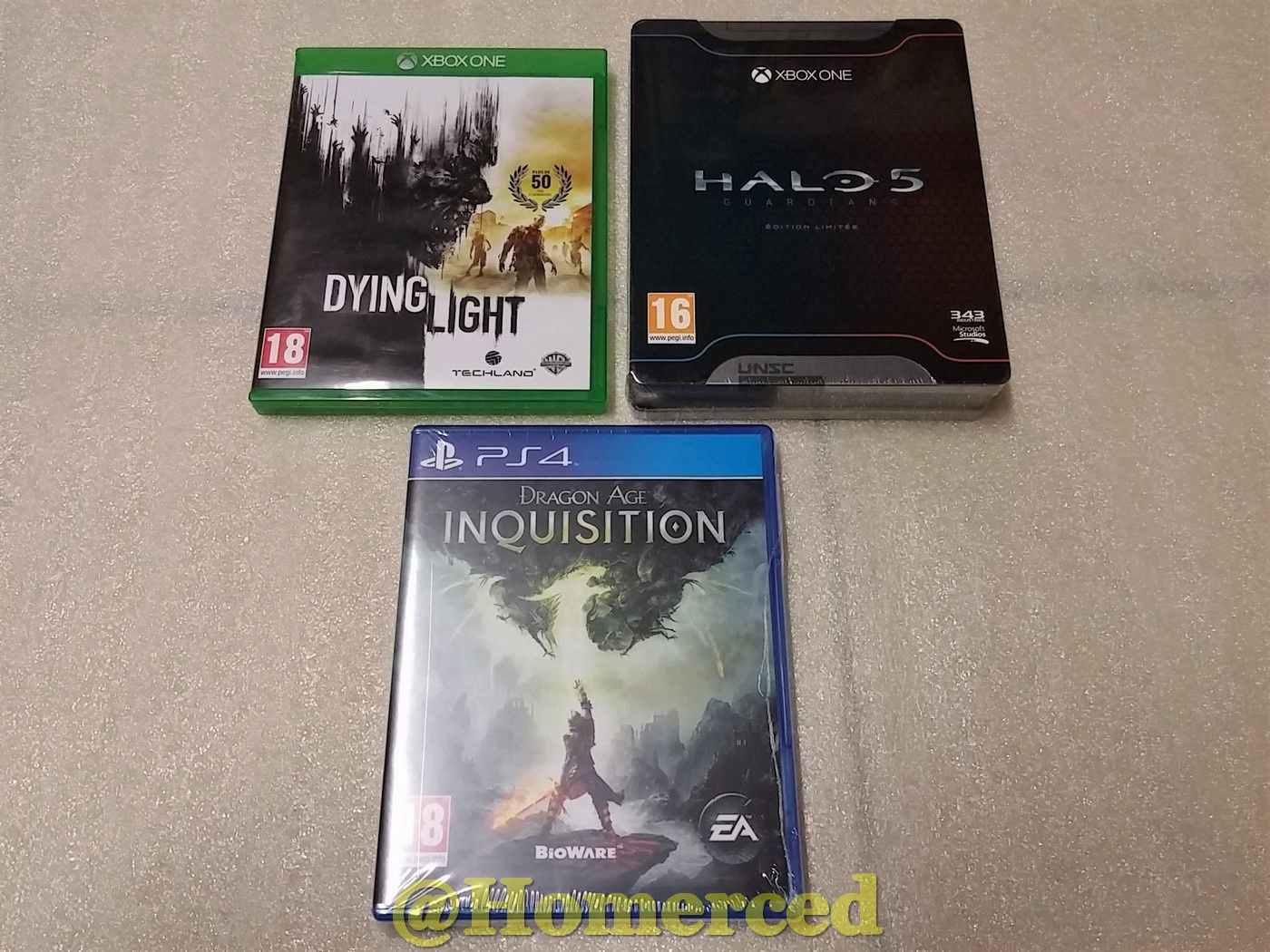 (Next Gen) XBOX ONE : Dying Light, Halo 5 Guardians édition limitée et PS4 : Dragon Age Inquisition