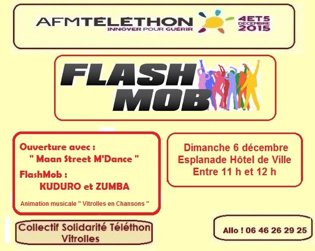 La FLASH MOB du TELETHON