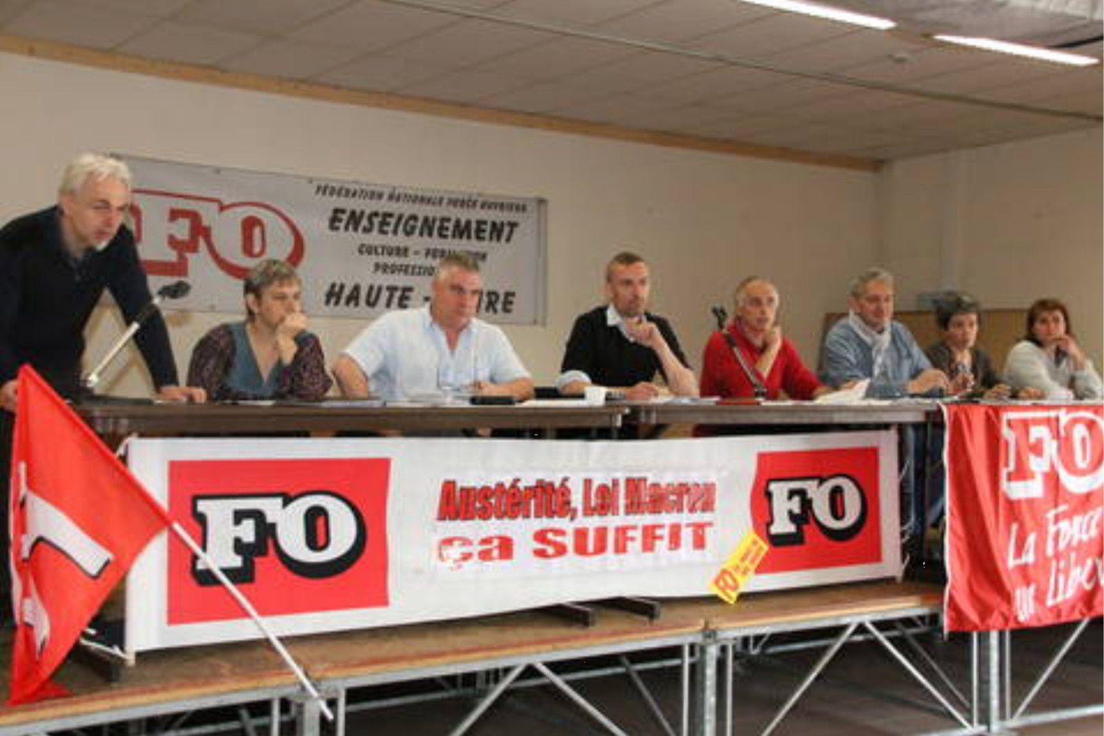 Congrès de la FNEC-FP FO de la Haute Loire : soutien à la grève du 19 mai dans les collèges et appel à son élargissement