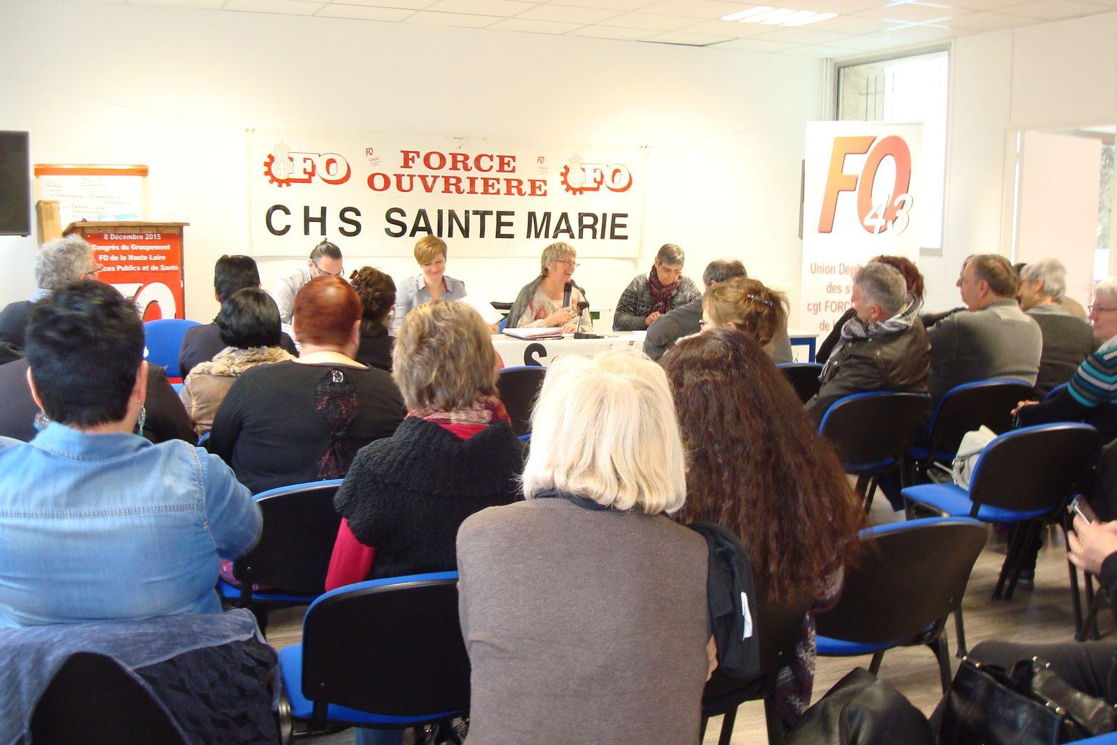 Elections professionnelles à l'Hôpital Sainte Marie au Puy:  6 points de plus pour FO