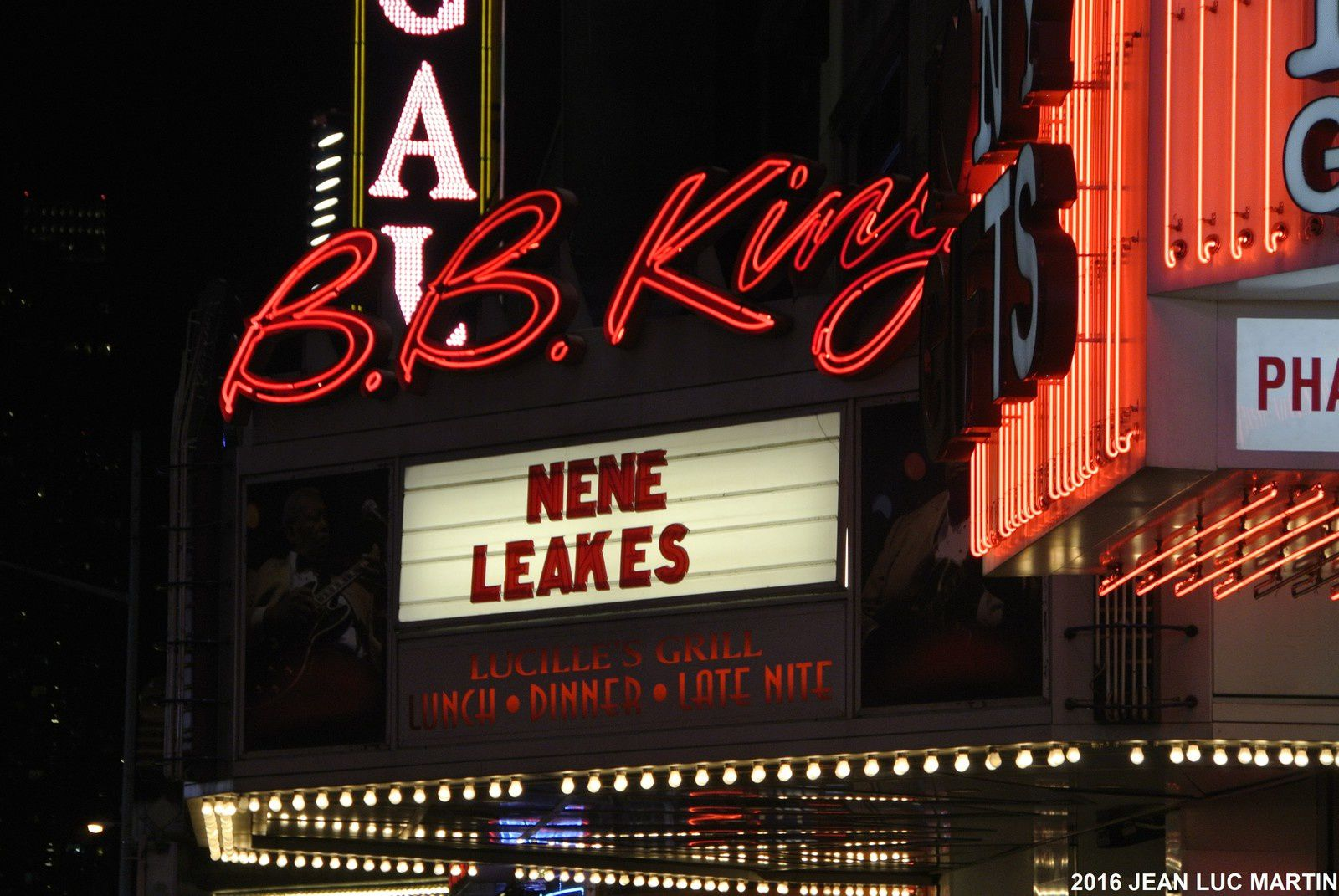 B.B.KING BLUES CLUB IN TIME SQUARE IN NEW YORK