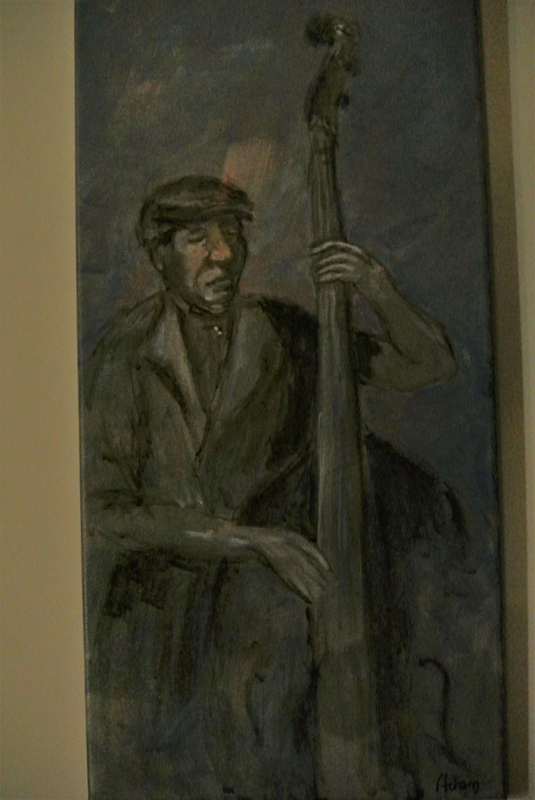 ART ET JAZZ: MICHEL ADAM UN PEINTRE SAINTONGEAIS AMATEUR DE JAZZ