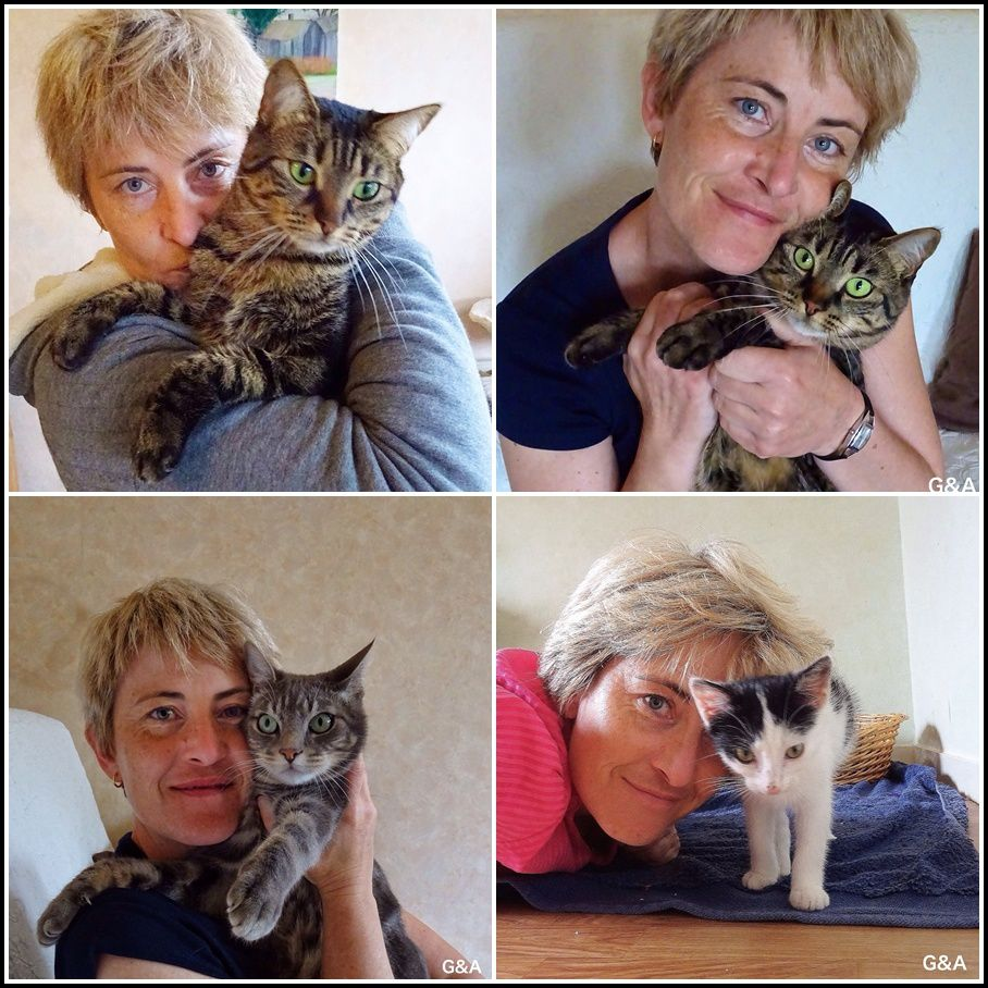 Mes loulous et moi ! la photo avec Praslin date de juillet dernier, quelques jours après son sauvetage !