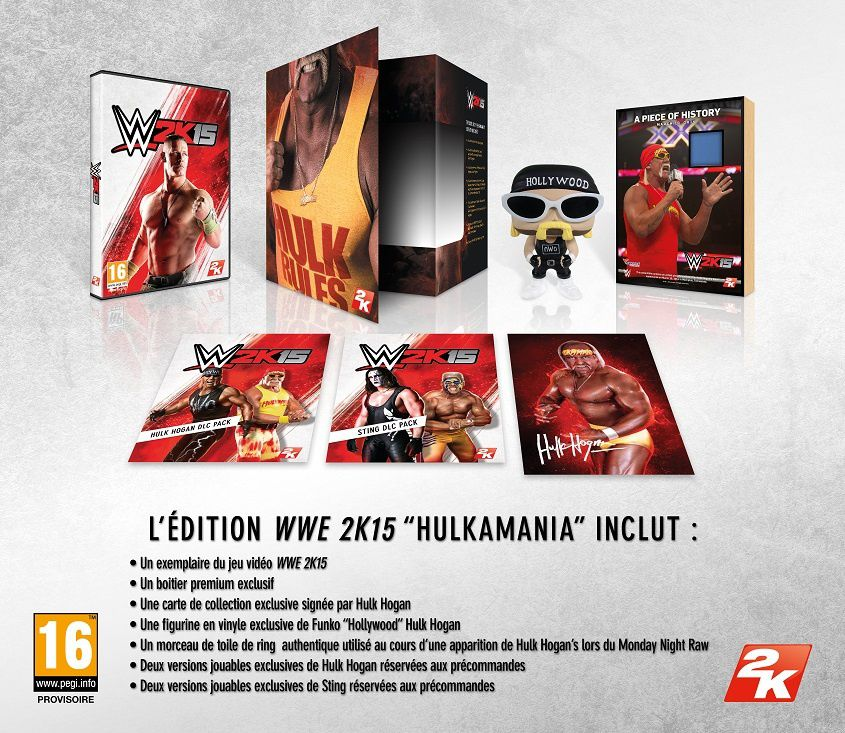 Une édition 'HULKAMANIA' pour WWE 2K15