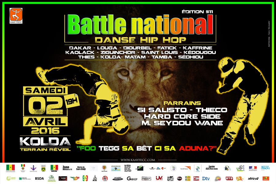 DANSE HIP HOP : 11éme Finale du Battle national au Sénégal, 02 avril 2016 à Kolda