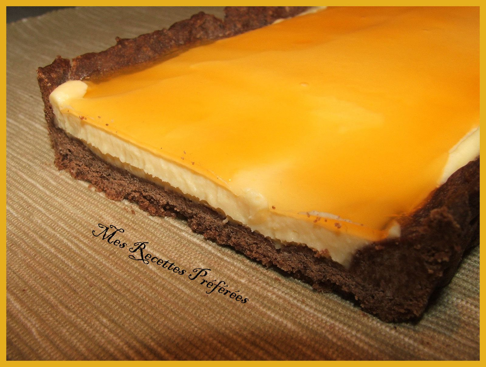 Tarte orange-choco version longue de Christophe Adam
