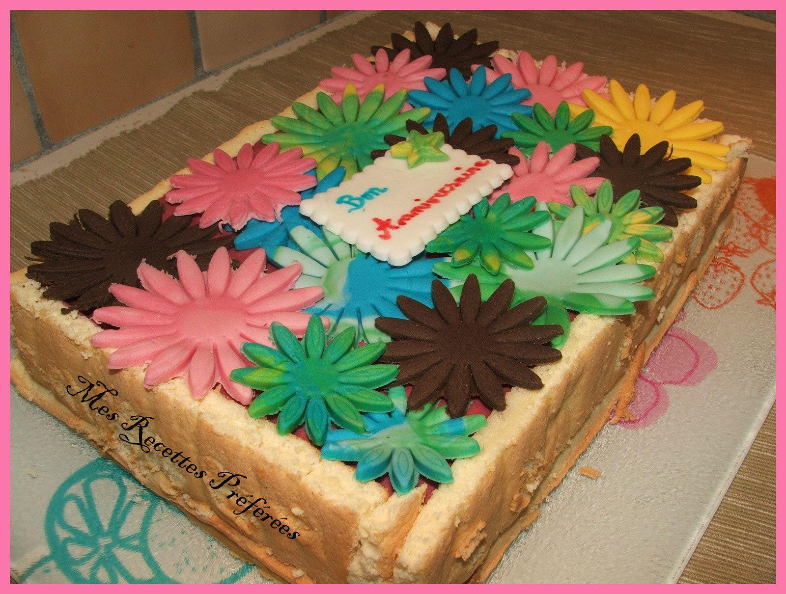 Mon gâteau fleuri pour l'anniversaire de ma poupette