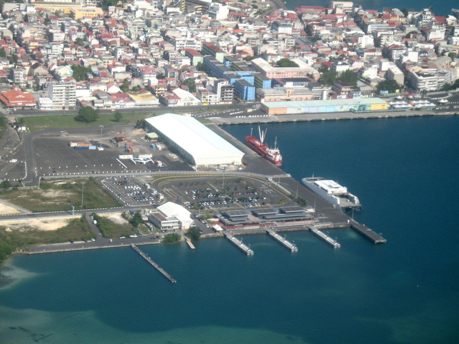 Guadeloupe depuis le ciel