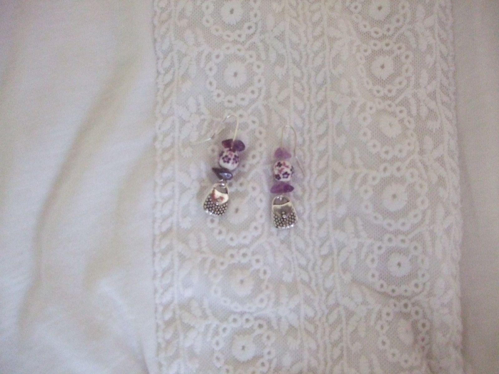 Tons violets - Boucles d'oreilles