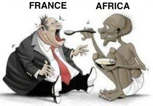 14 pays africains paient encore un impôt colonial à la France – l'aide est inversée c'est le Sud qui donne au Nord. Non l'inverse…