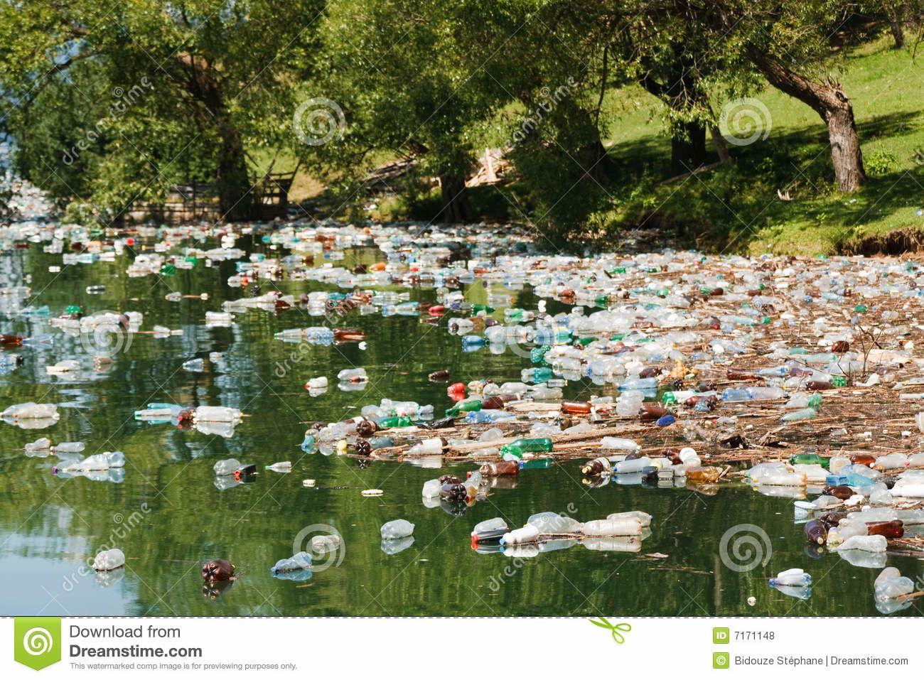 la pollution plastique n'ignore pas les rivières...
