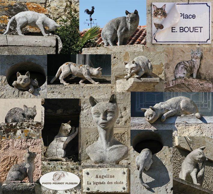 sculptures de chats...