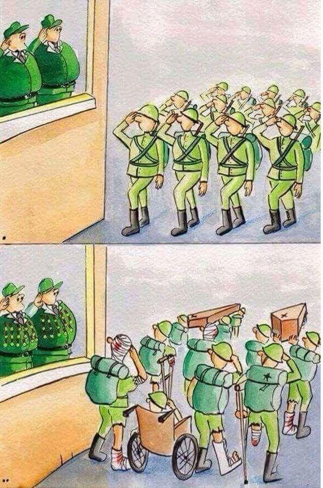 La guerre : - ceux qui donnent vraiment ne reçoivent que le sarcasme dévient de ne gratifier que ceux qui leur ont tant pris (amputations, pertes d'autonomies, désocialisations, etc.)