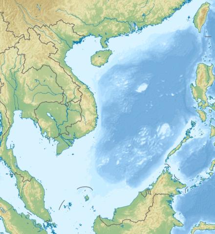 La mer de Chine méridionale et les revendications sur les îles.