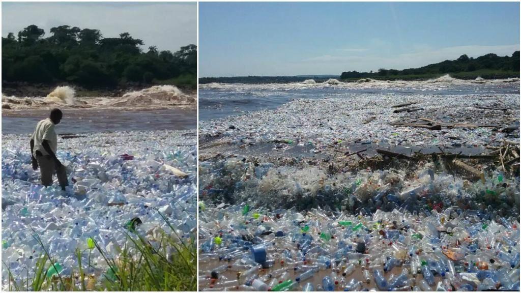 oui oui c'est un grand fleuve mais vraiment recouvert de plastique