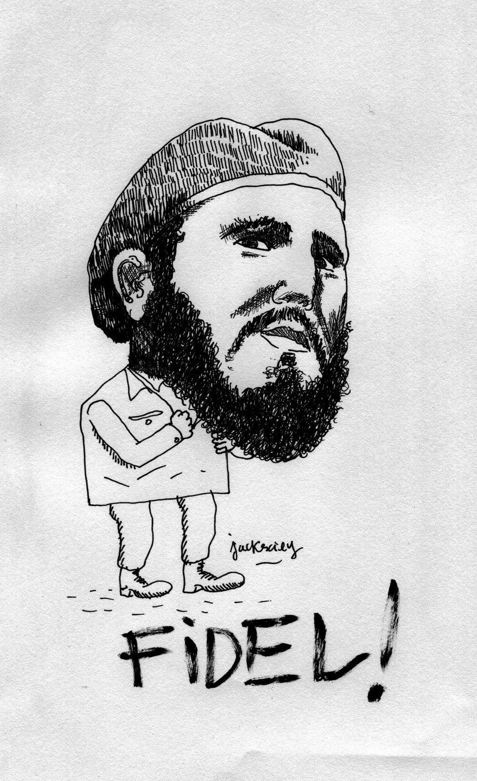 Fidel Castro par Jack Exily - reproduction interdite - droits réservés.