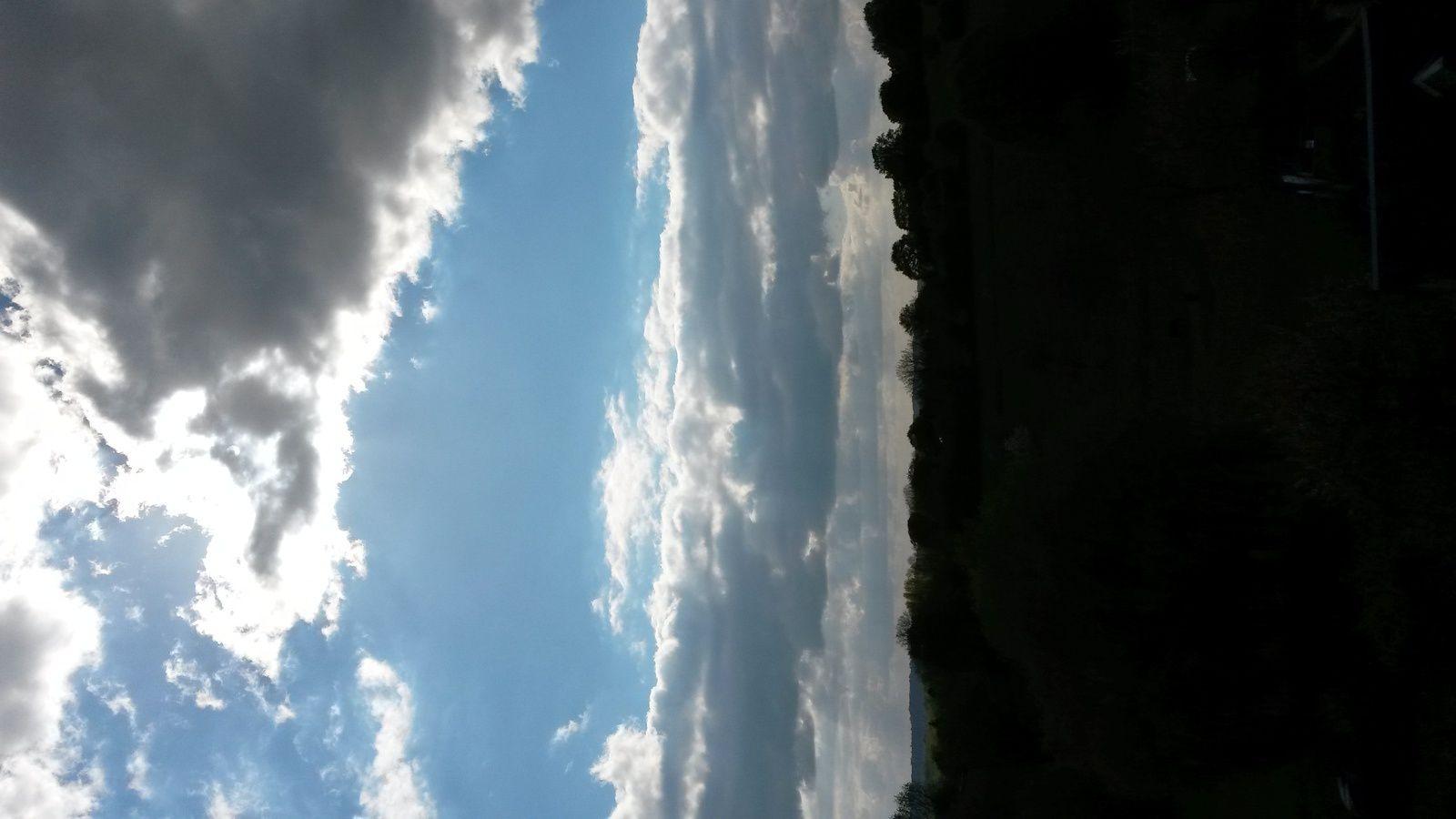 Là il était environ 18h... le ciel menaçait un peu quand même ...