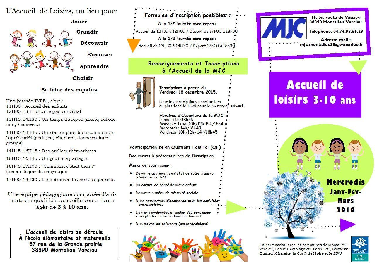 Plaquette Accueil de Loisirs 3/10 ans