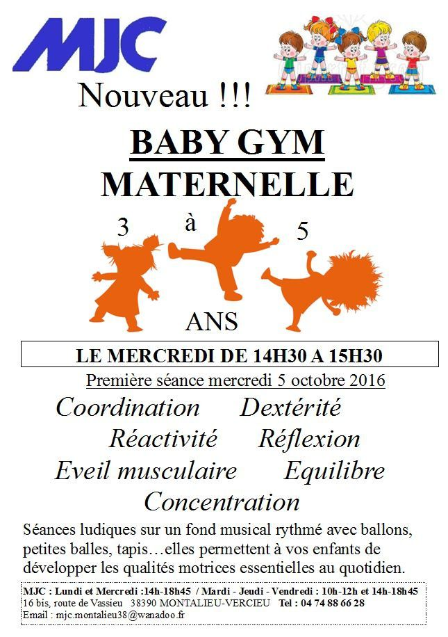 Baby Gym Maternelle 3 à 5 ans
