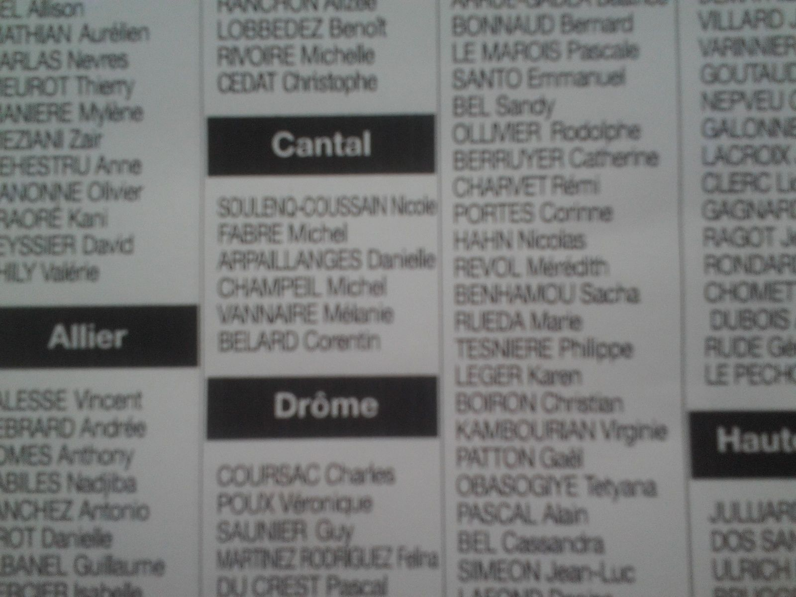 Lés Candidats  100% citoyens Cantal
