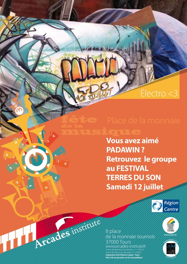 Padawin au festival Terres du Son samedi 12 juillet