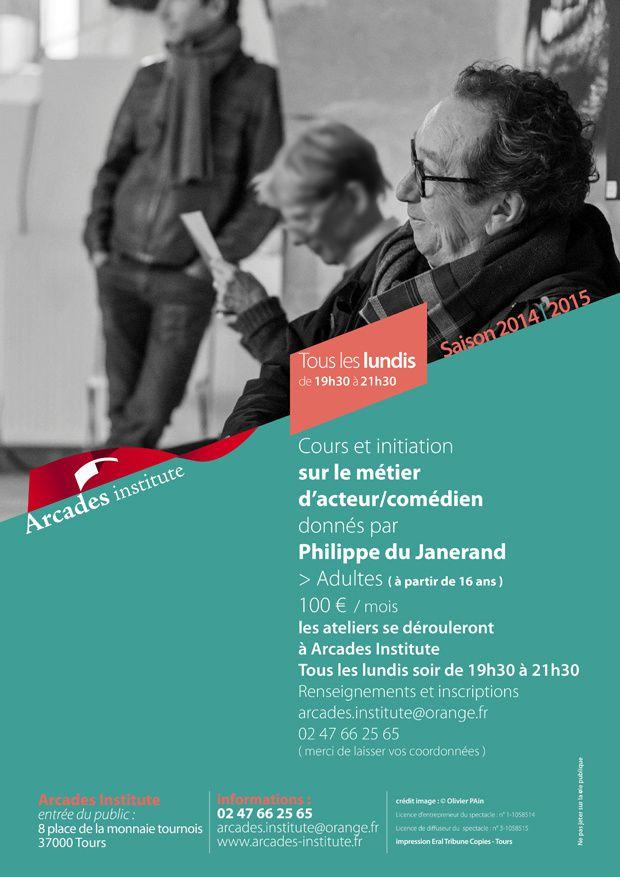 Lundi 15 septembre 19h30 → lancement des cours comédie / acteur. Par Philippe Du Janerand