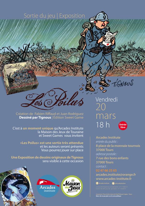 Vendredi 20 mars 18 h &gt&#x3B; Sortie du jeu « Les Poilus » et Expo de dessins originaux de Tignous