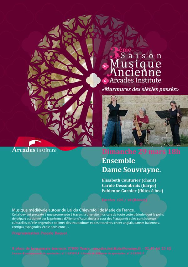 Dimanche 29 mars 2015 à 18h  Ensemble Dame Souvrayne.
