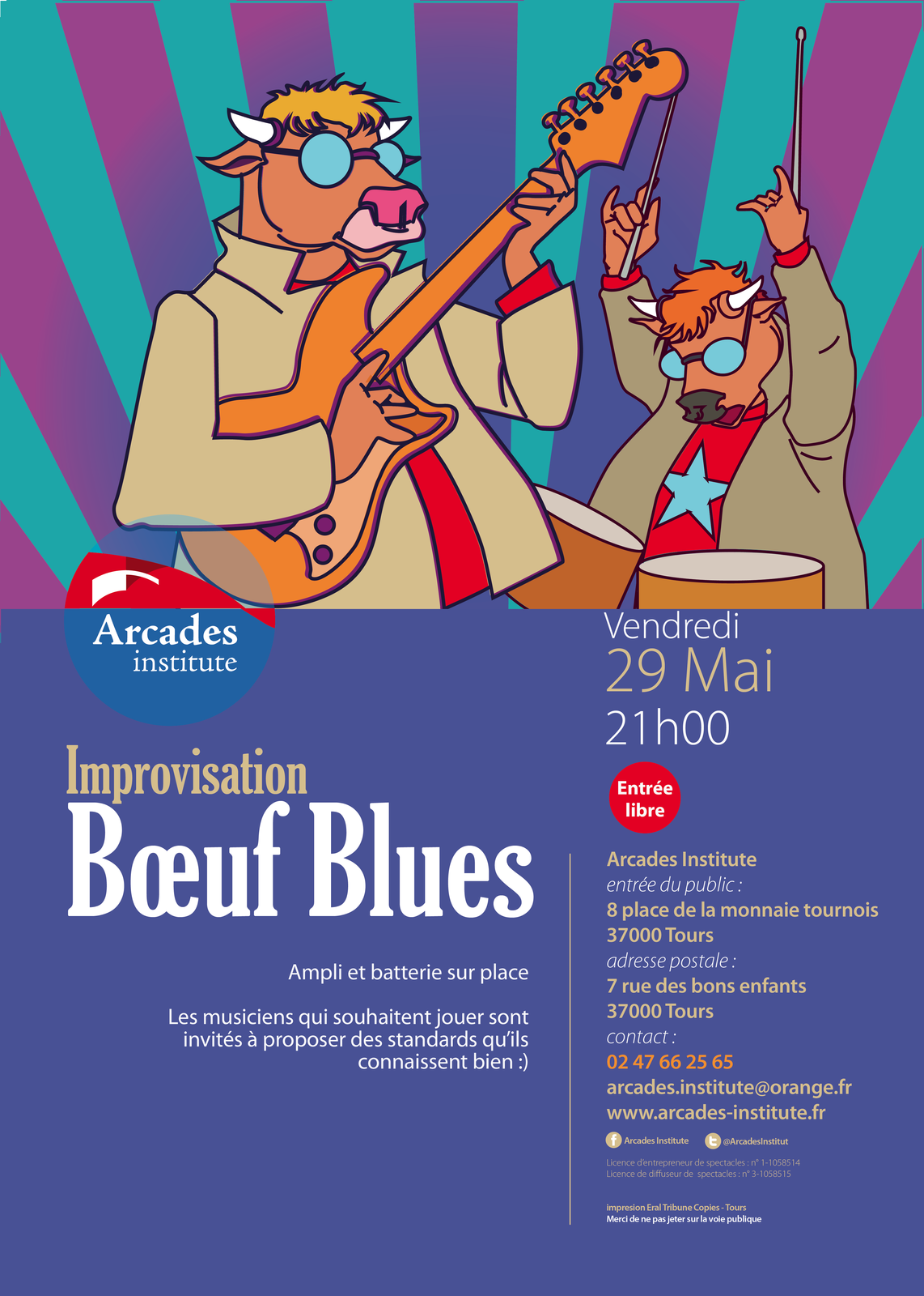 Vendredi 29 mai 21h ➔ Impro Bœuf blues
