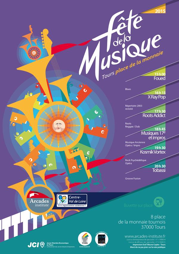 21 juin 15h Fête de la musique &gt&#x3B; Scène d'Arcades Institute Place de la monnaie