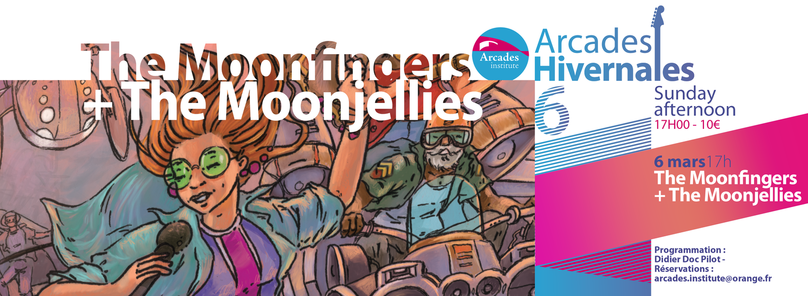 Dimanche 6 mars 17h The Moonfingers + The Moonjellies