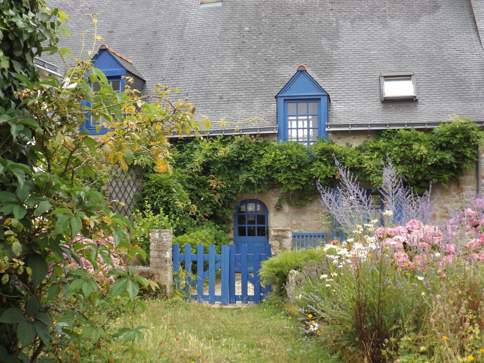 Maison bretonne sur l'île d'Arz dans le Golfe du Morbihan