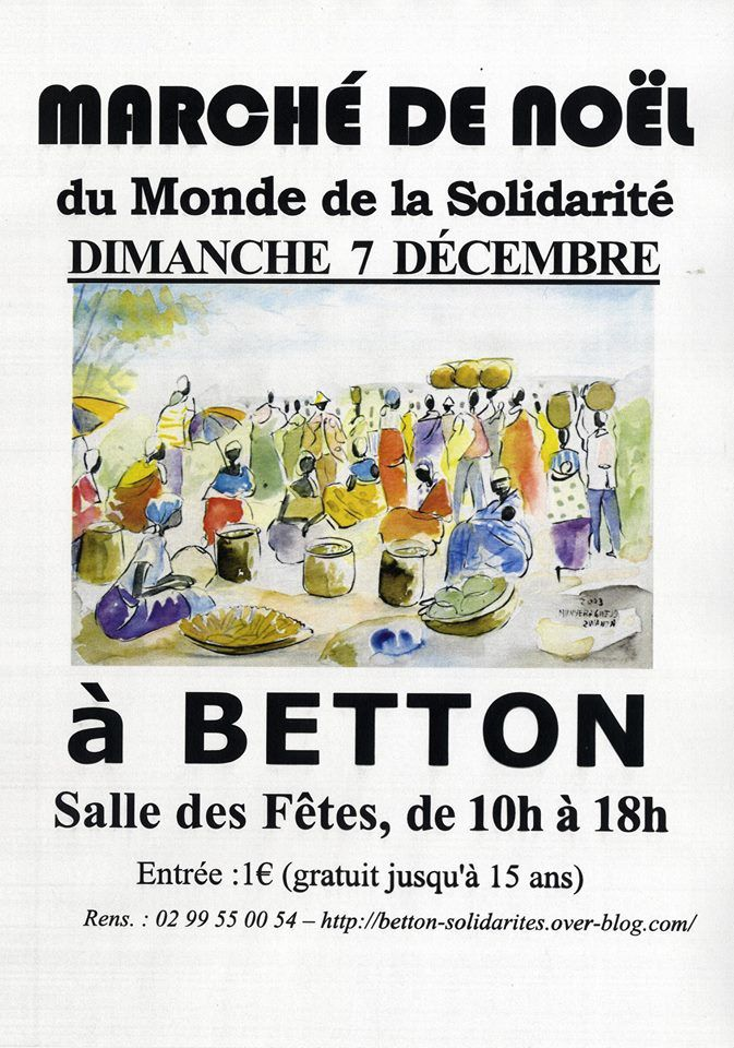 Marché de Noël à Betton le 7 nov.