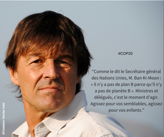 Message de Nicolas Hulot