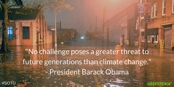 Last night US Pres. Obama made bold statements we support on climate change. Will he act on his words?