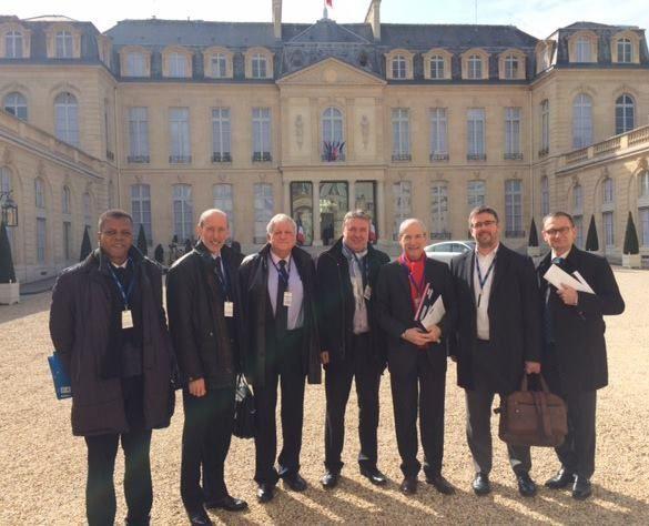 De gauche à droite : Ferdy Louisy, Jean-Raymond Hugonet, Yves Pietrasanta, Jean-Paul Lecoq, Guy Geoffroy, Damien Carême, Jean-Marc Vasse