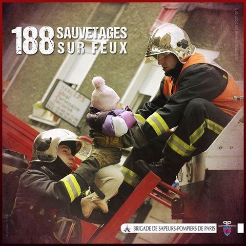 188 personnes sauvées des flammes par la BSPP en 2014