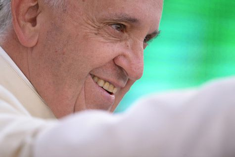 FILIPPO MONTEFORTE/AFP Le pape François le 14 juin 2015.