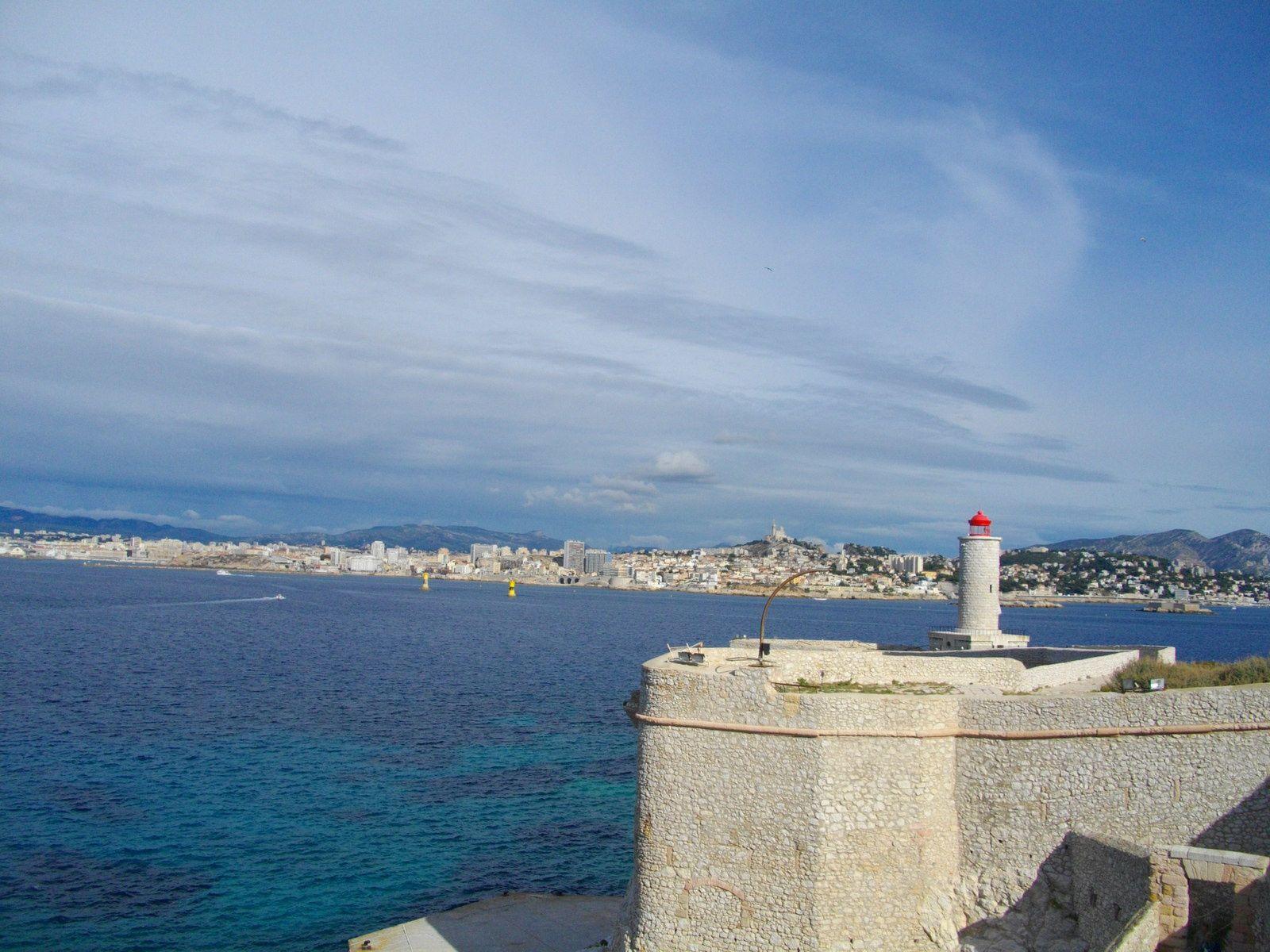 Marseille vu du chateau d'If
