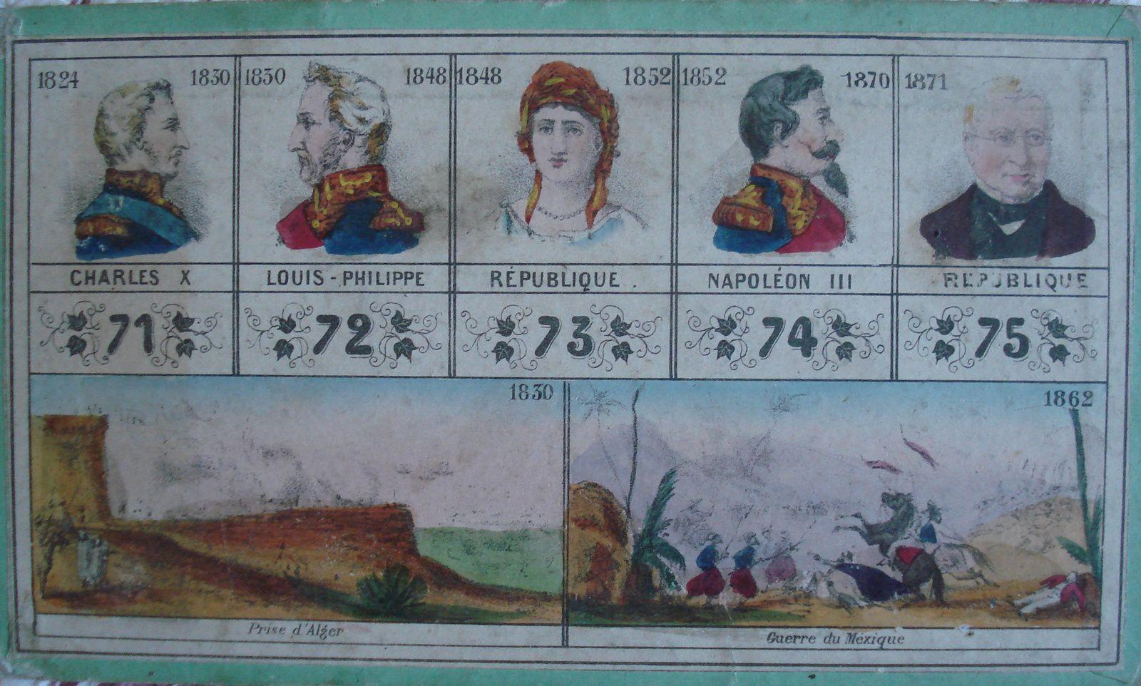 Dernier personnage présenté, Thiers nous permet de situer la création du jeu vers 1872